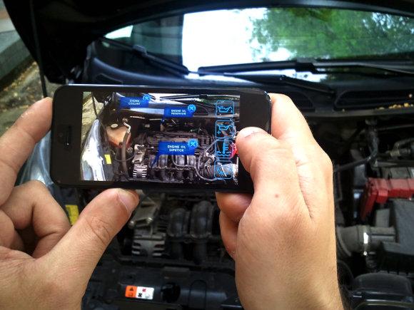 Application mécanique automobile réalité augmentée