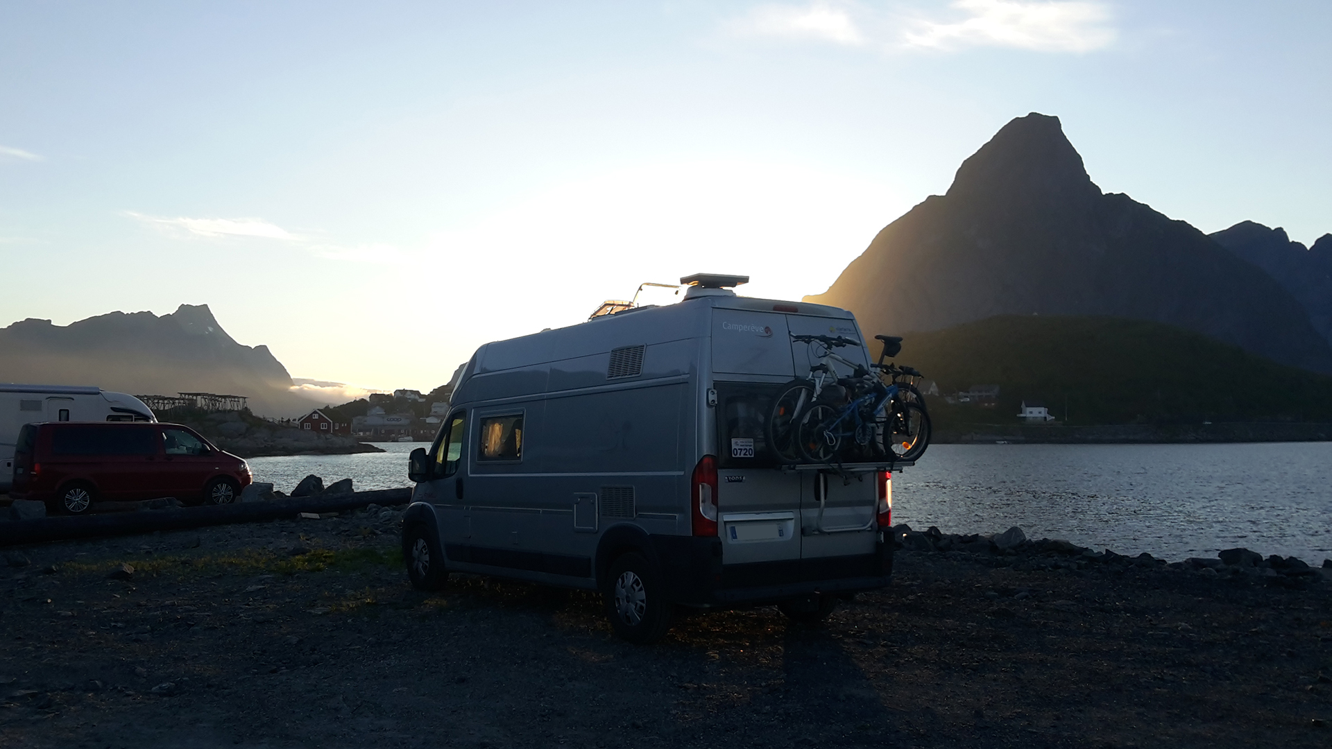 Reine, Norvège, camping cra