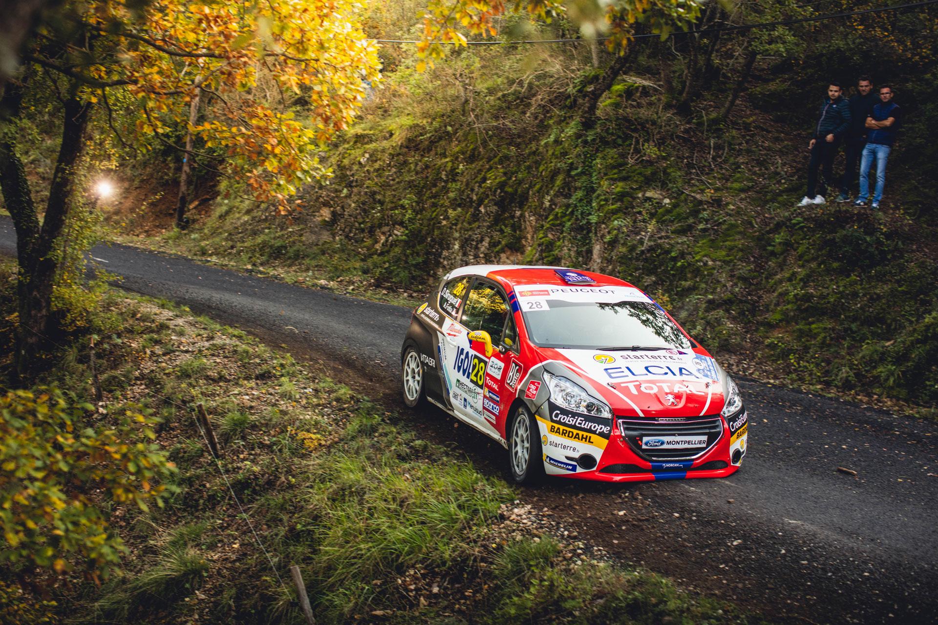 Voiture engagée Sebastien Loeb Racing sur le Critérium des Cévennes