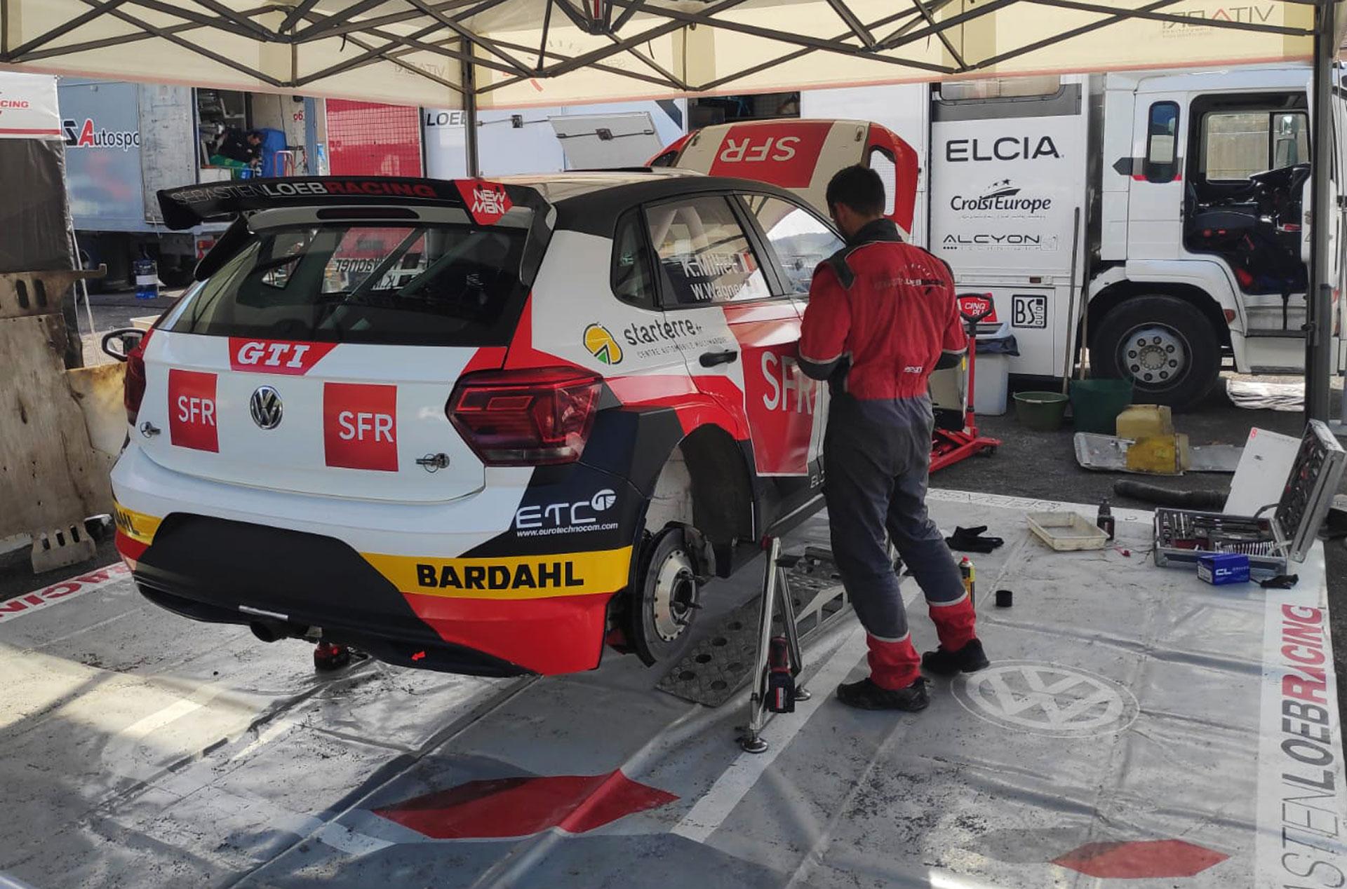 Volkswagen polo GTI R5 à l'atelier Sébastien Loeb racing
