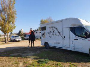 Camille Jaguelin, en route pour 2021 avec son camion chevaux !